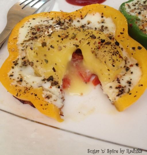 eggs in bell pepper
