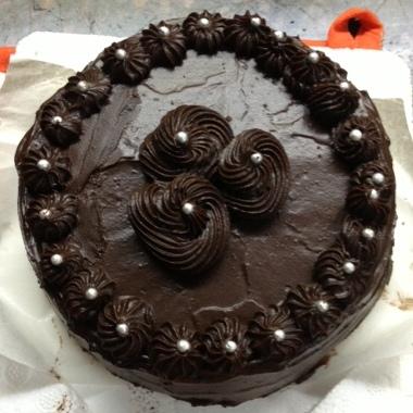 chocolate ganache vanilla cake microwave