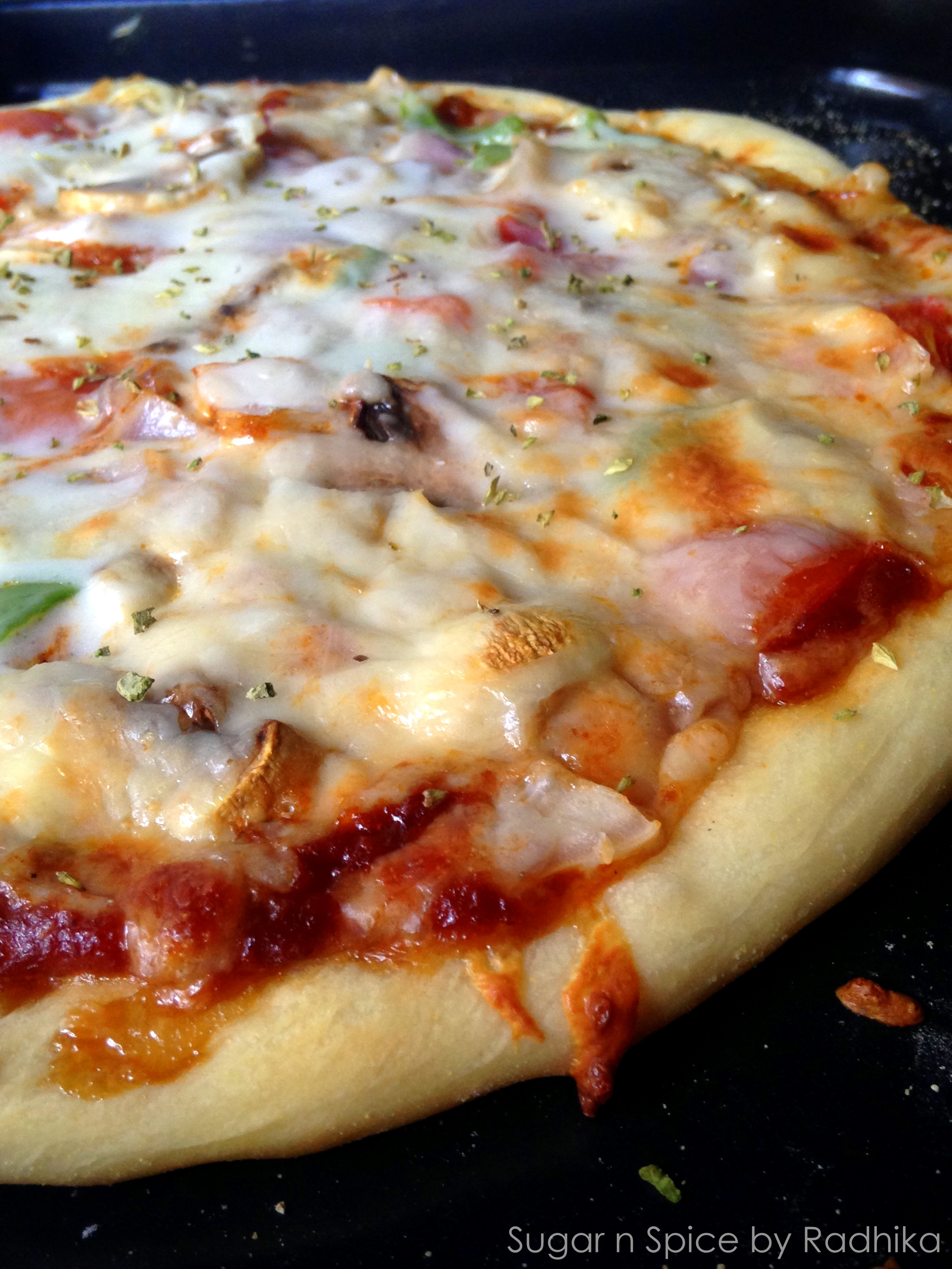 how to make pizza at home without yeast and oven