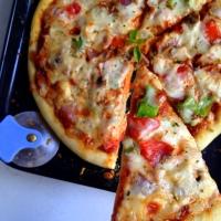 Homemade Classic Veggie Pizza
