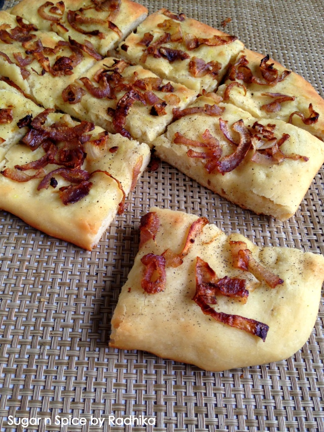 Caramelized Onion Focaccia Bread