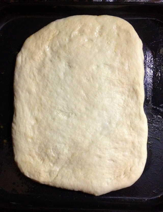 Caramalized onion focaccia bread