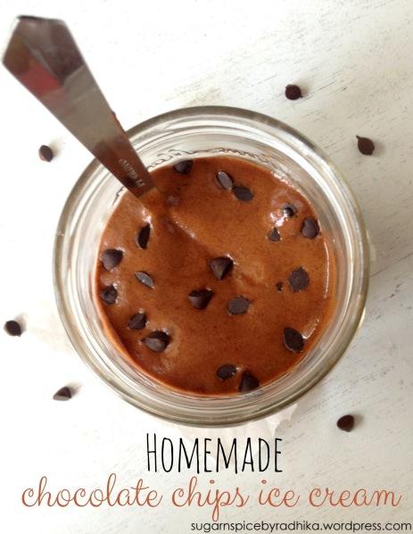 Homemade Chocolate Chips Icecream