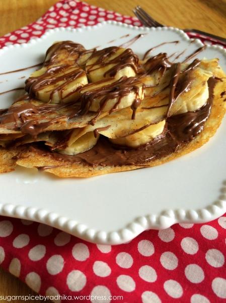 Nutella and Banana Crepes