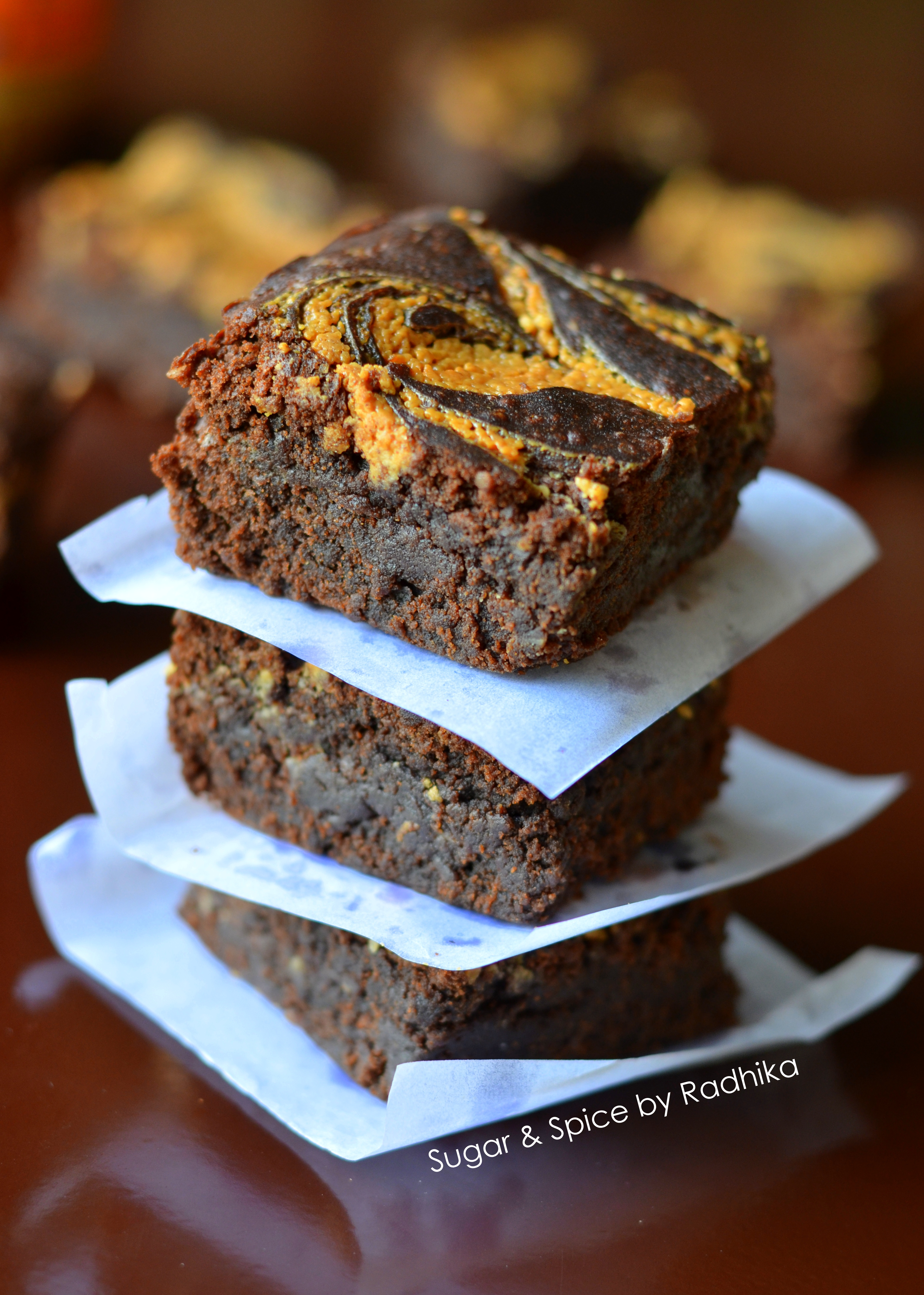 super fudgy dark chocolate brownies topped with rich peanut butter ...