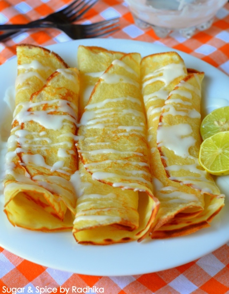 Lemon Crepes with Tangy Lemon Glaze