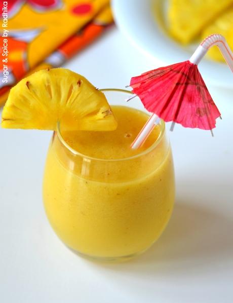 Sunrise Smoothie with Pineapple and Mango