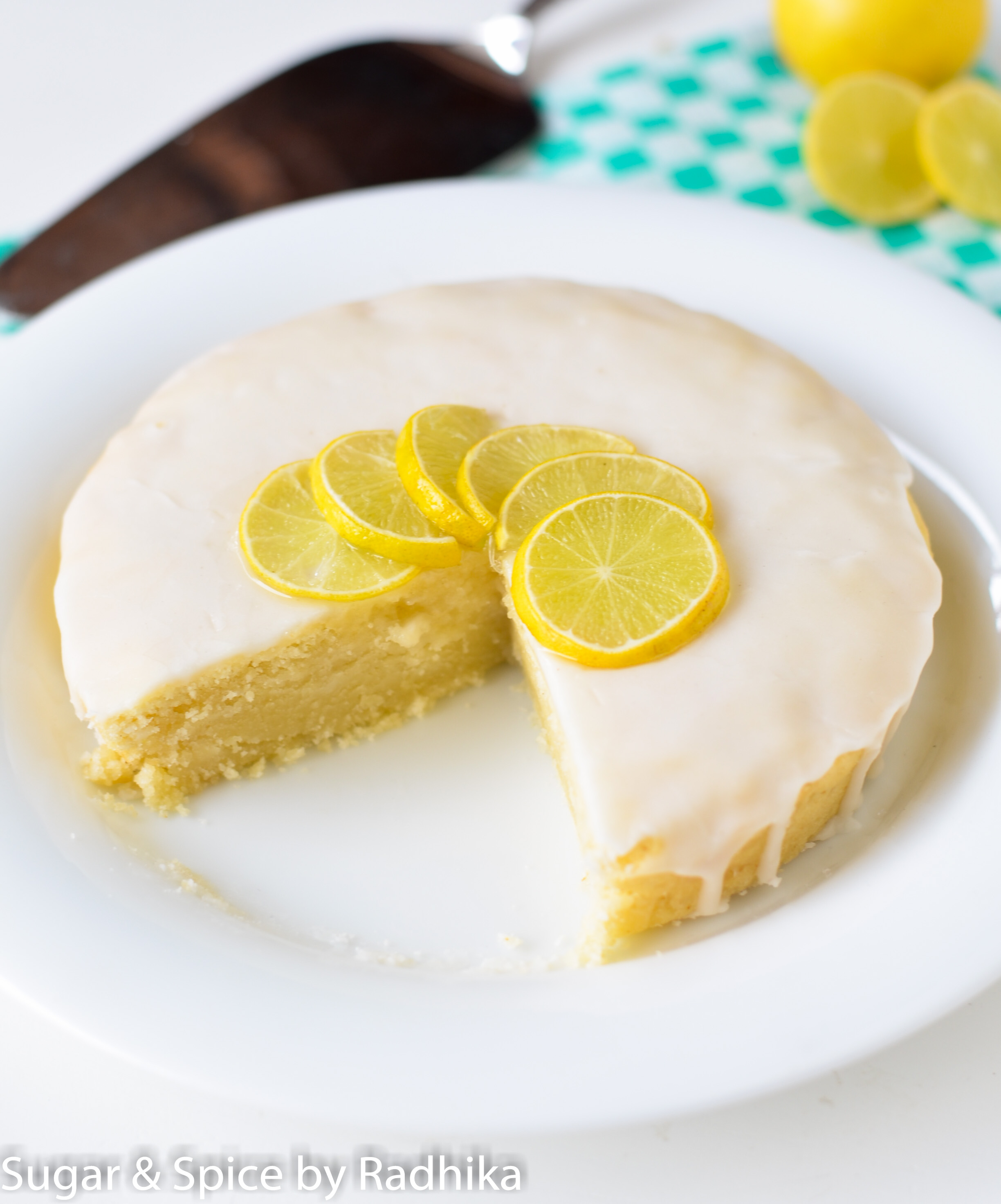 Eggless Lemon Drizzle Cake The Improved Version Sugar Spice By