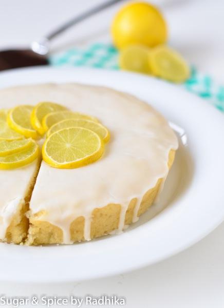 Eggless Lemon Drizzle Cake