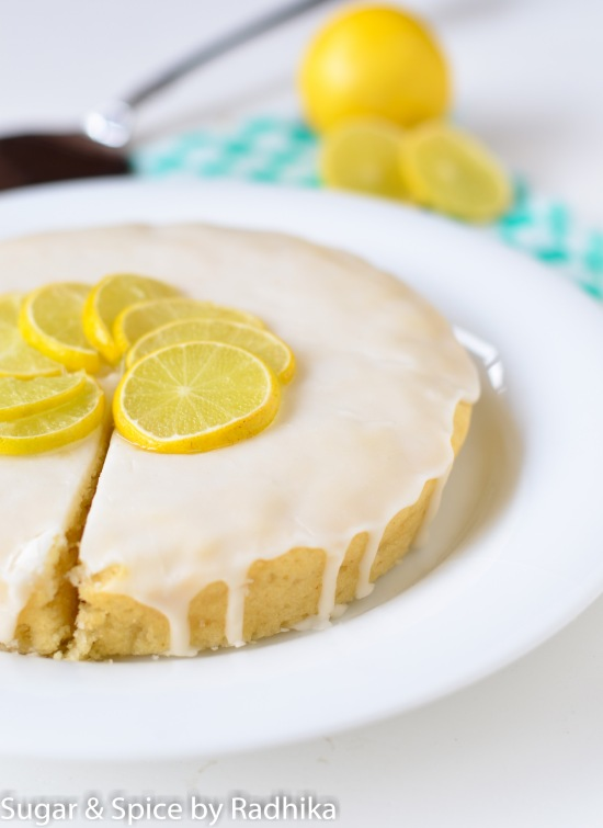 Eggless Lemon Drizzle Cake