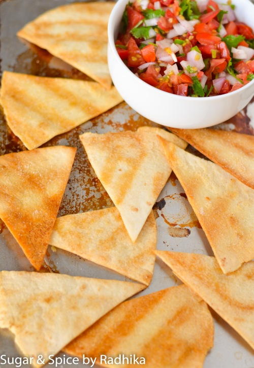 Homemade Tortilla Chips with Chunky Salsa