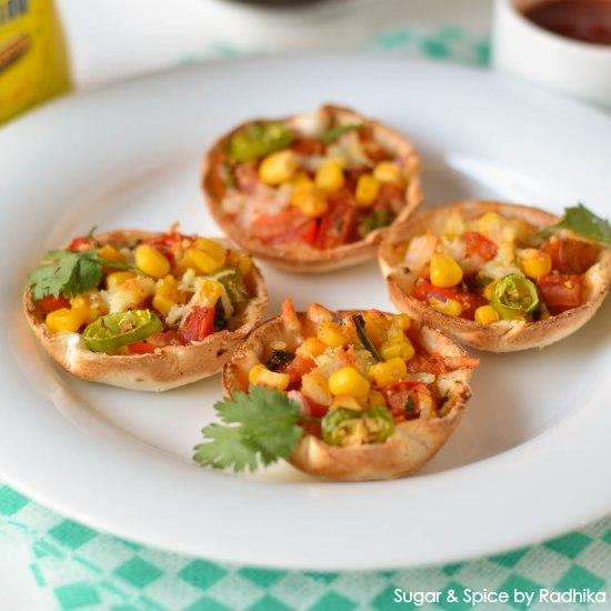 Mini Tortilla Pizzas- Mexican Style