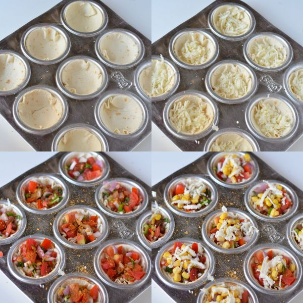 Mini Tortilla Pizzas- Mexican Style
