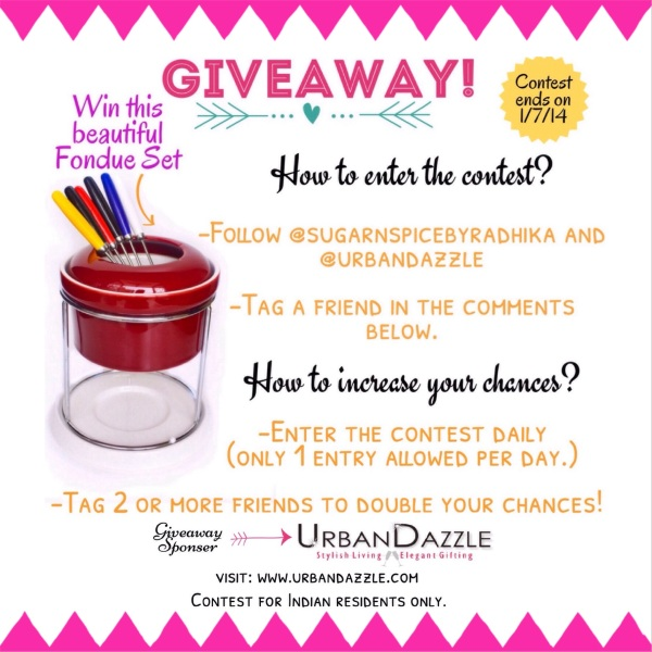 Urban Dazzle Fondue Set Giveaway