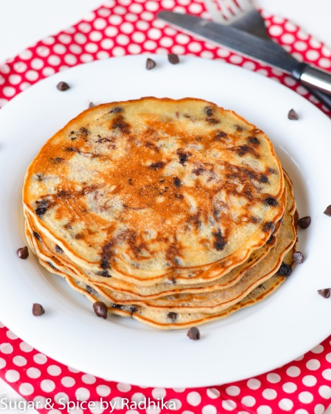Banana and Chocolate Chip Pancakes