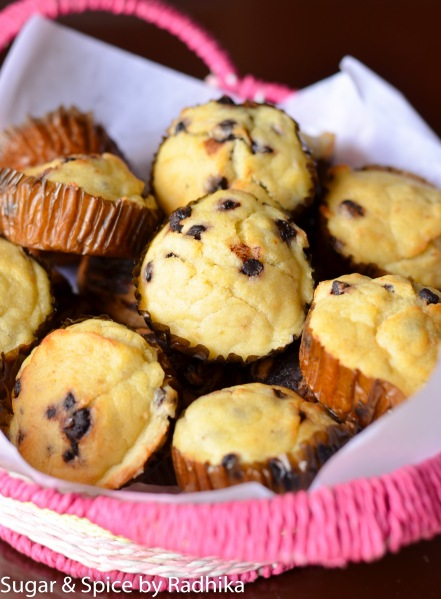 Sugar Free Chocolate Chip Banana Muffins