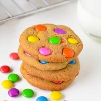 Candy Cookies aka Gems Cookies (eggless)