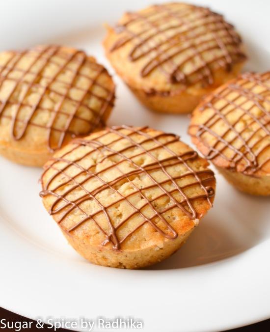Nutella Stuffed Cinnamon Muffins