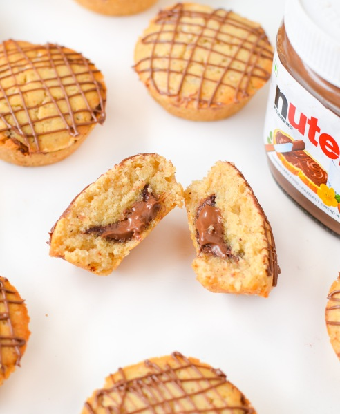 Nutella Stuffed Cinnamon Muffins
