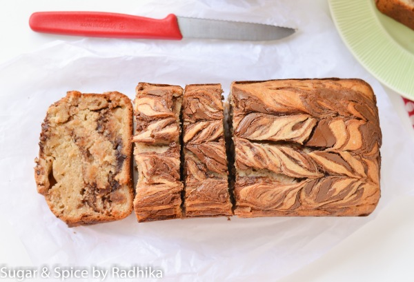 Nutella Swirl Banana Bread