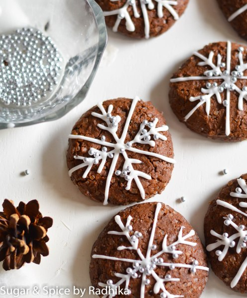 Snowflake Chocolate Cookies