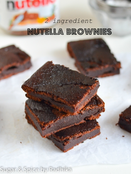 2 ingredient Nutella Brownies
