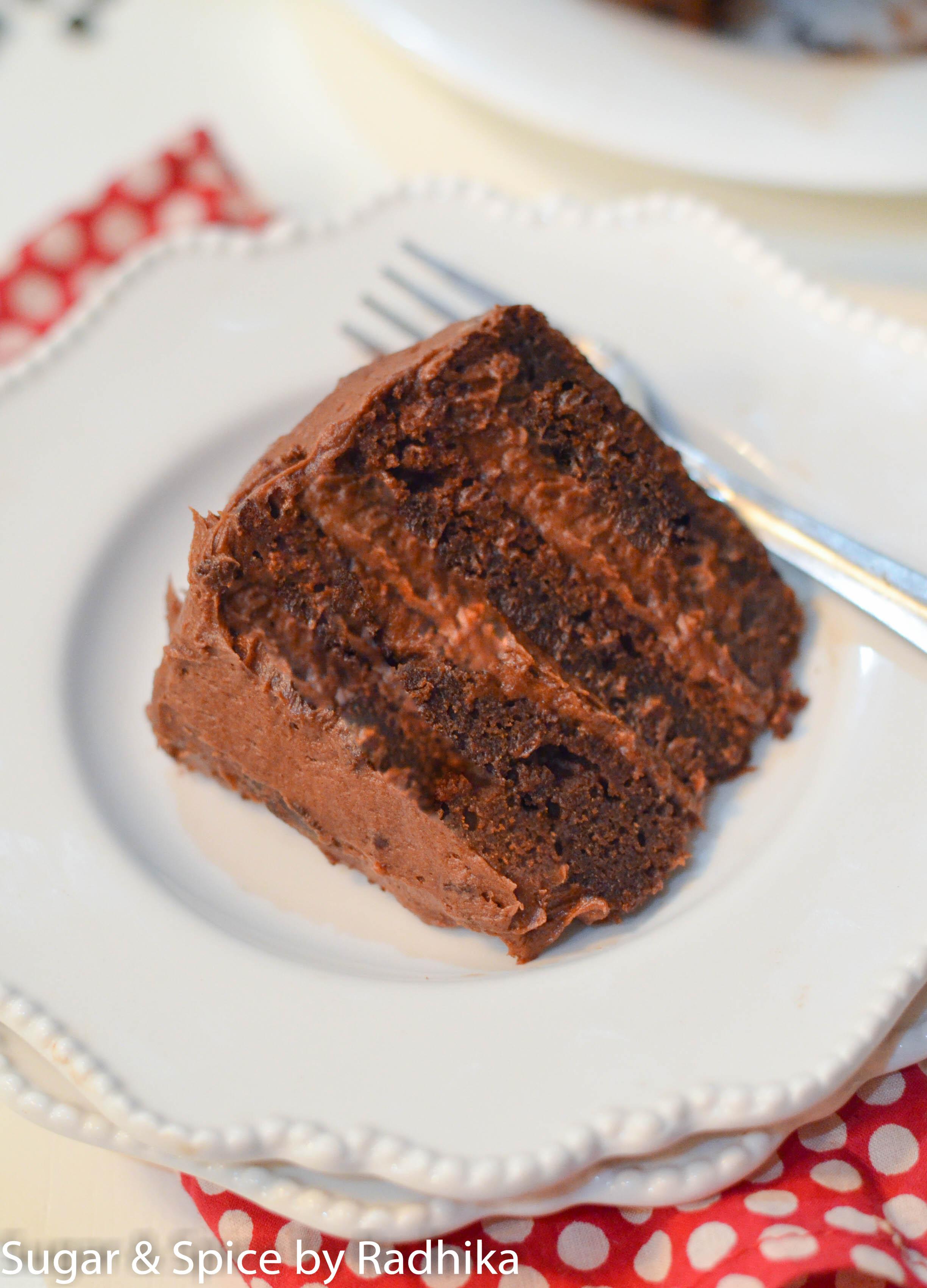 Hershey's Chocolate Cake with Chocolate Frosting Recipe |