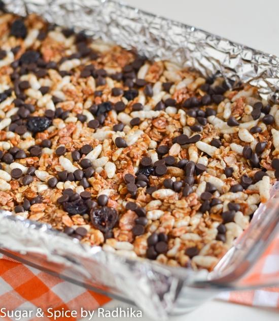 No Bake Chocolate Chip Granola Bars