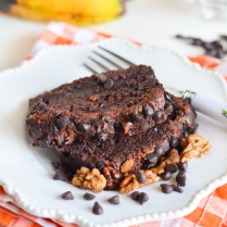 Double Chocolate and Walnut Banana Bread