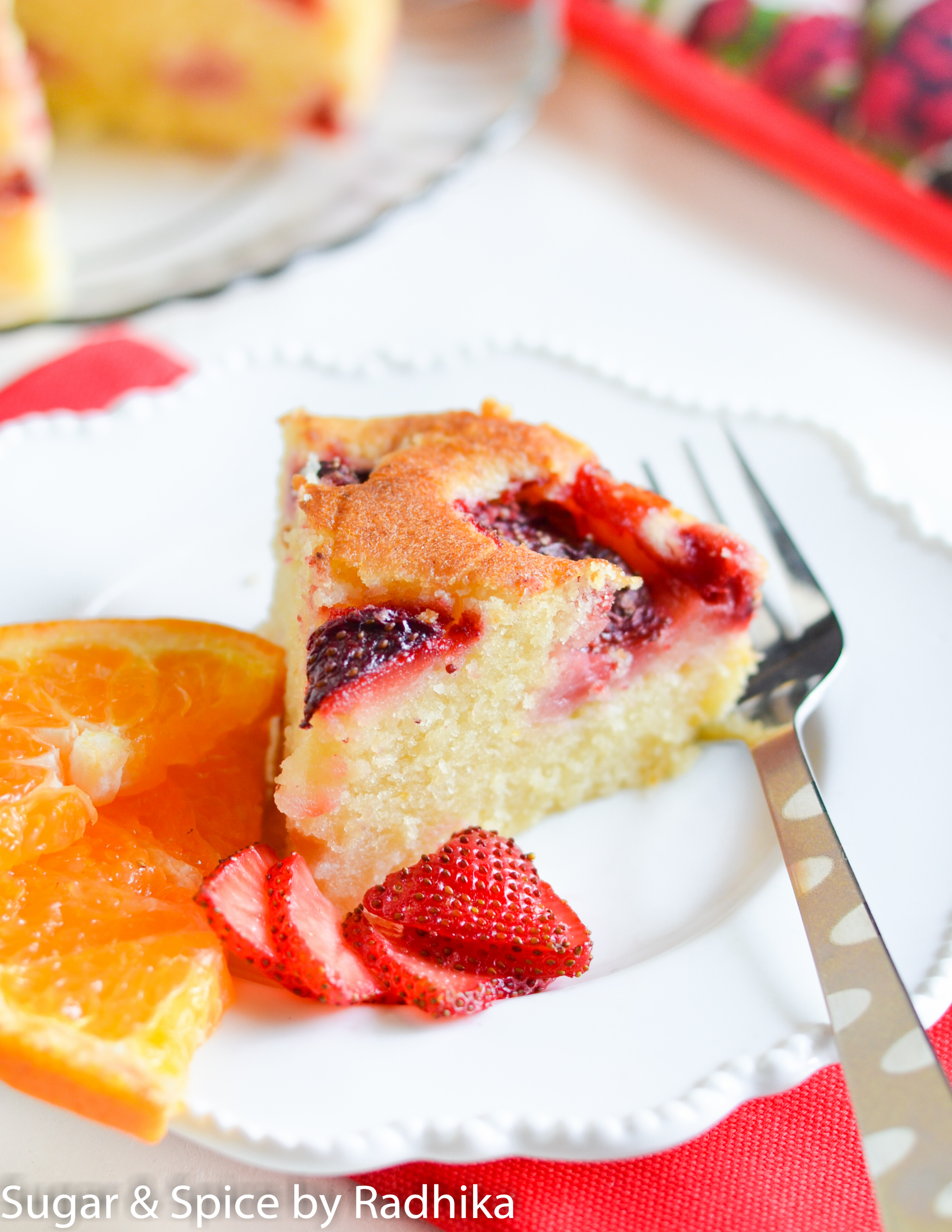 Orange and Strawberry Summer Cake |