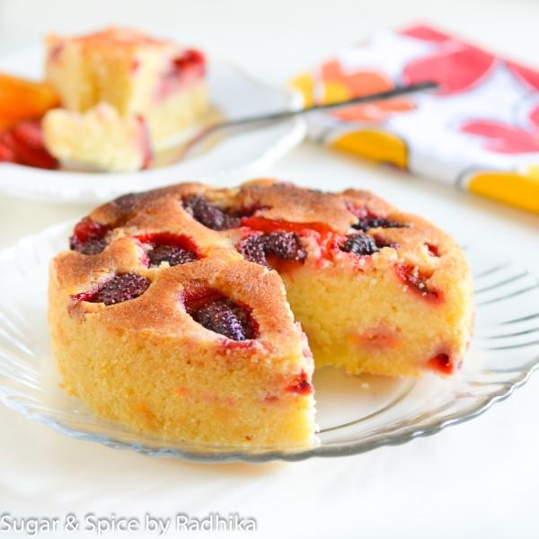 Orange and Strawberry Summer Cake