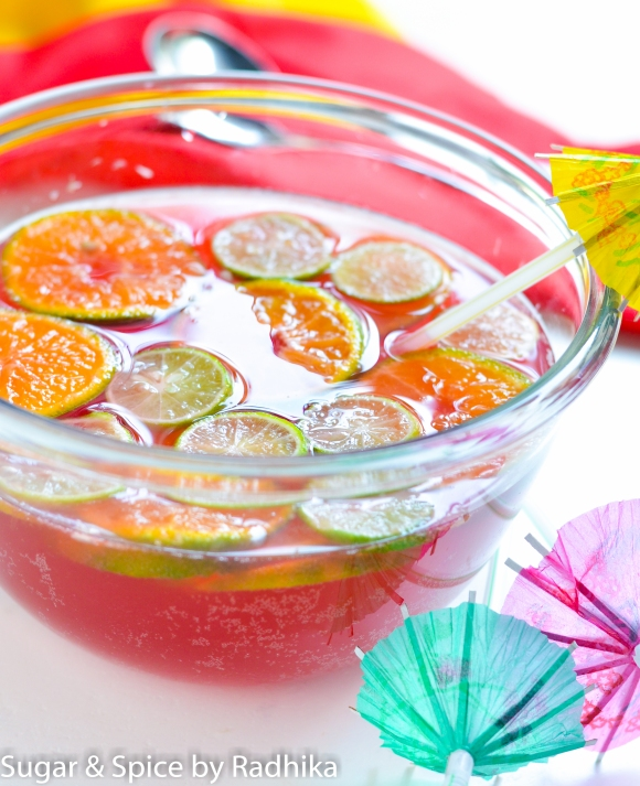 Orange and Cranberry Summer Punch
