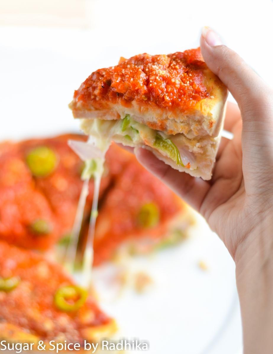 Homemade Deep Dish Pizza - Instapizza Style